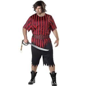 Mens PIRATE Buccaneer Halloween Costume Size XXL